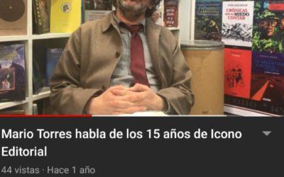 Mario Torres habla de los 15 años de Icono Editorial